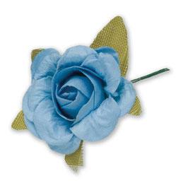 12 Papier Rosen hellblau