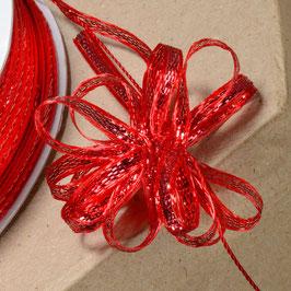 Ziehschleifen Band schillernd rot - 5 Meter