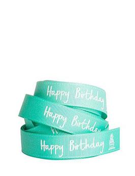 "Ripsband ""Happy Birthday"" grün, 5 Meter"