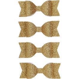 Papierschleifen Glitzer gold - 4 Stück