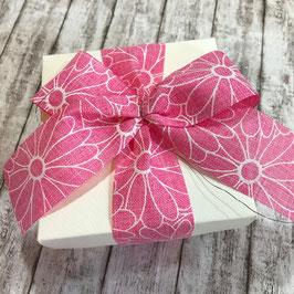 Motivband Blumen rosa