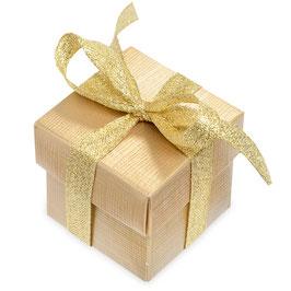 Geschenkbox gold klein 10 Stück - 5x5x5 cm