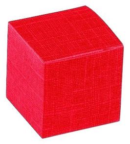 Würfel Geschenkbox rot - 8x8x8 cm, 10 Stück