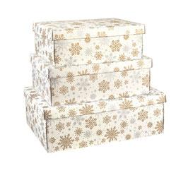 Geschenkbox XMAS Rechteck mit Deckel 45,5x32x15 cm