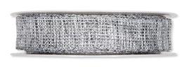 Lurexband Draht silber meliert 2 Meter
