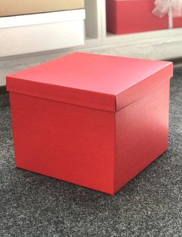 XL Geschenkbox rot mit Stülpdeckel - 30x30x24 cm