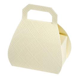 Handtaschen Schachtel creme, 10 St. - 8x6x4 cm