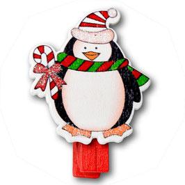 """4 Weihnachts-Holzklammern """"Pinguin"""""""