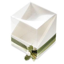 Würfel Display Geschenkschachtel weiß