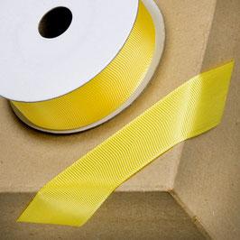 Ripsband gelb 25mm - 10 Meter
