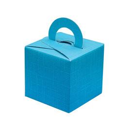 Geschenkschachtel türkis Quadrat mit Henkel