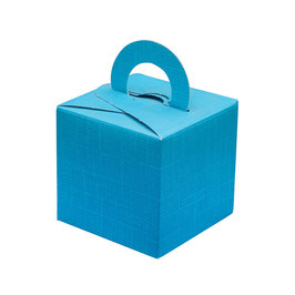 Geschenkschachtel türkis Quadrat mit Henkel, 10 Stück