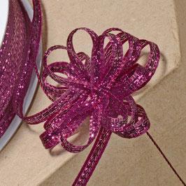 Ziehschleifenband schillernd burgundy, 5 Meter