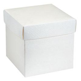 Geschenkschachtel weiß mit Deckel mittelgroß 200x200x190mm