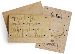 """Geschenkumschlag """"Für Dich"""""""