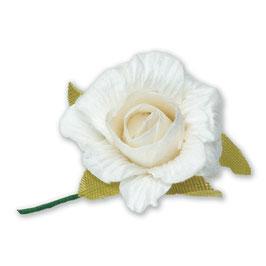 6 Papier Rosen weiß