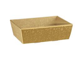 Geschenkschale gold Klarsicht-Deckel - 21x21x9 cm