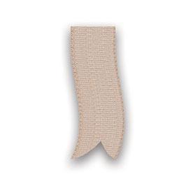 Baumwollband beige 25mm - 5 Meter