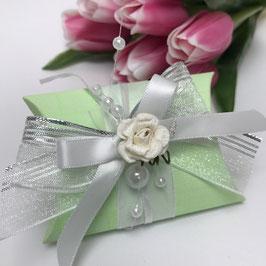 Geschenkverpackung - Set Pillow Box grün