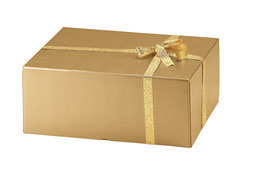 XL Geschenkbox gold Milano 600 - 59x40x14,5 cm
