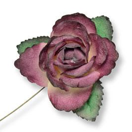 Große Papier Rose Burgunder-rot, 3 Stück