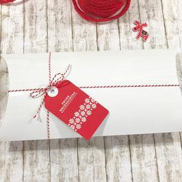 XL Kissen Geschenkschachtel glossy weiß (Pillow Box), 5 St.