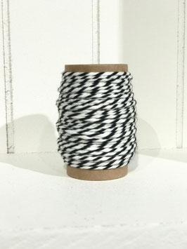 Bäckergarn schwarz/weiß - 10 Meter
