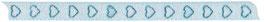 Chiffonband weiß mit blauen Herzen - 5 Meter