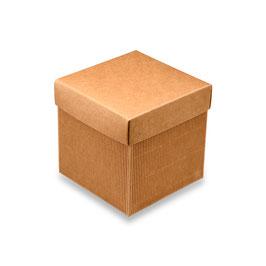 Geschenkschachtel Wellkarton mit glattem Deckel klein, 10 Stück