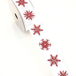 Motivband Schneeflocke - 2 Meter