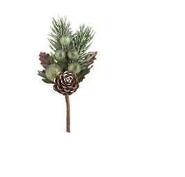 Weihnachts-Zweig mit grünen Kugeln