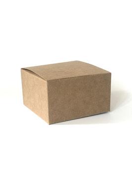 Würfel Geschenkschachtel Kraftkarton flach - 10 Stück