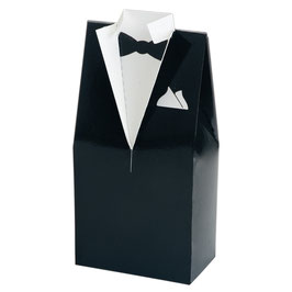 Geschenkbox Smoking schwarz, 10 Stück - 5x3x10 cm