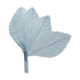 Stoff-Blatt, klein, weiß, 12 St.