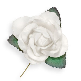 Große Papier Rose weiss, 3 Stück