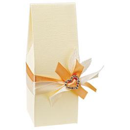 Milchkarton Geschenkschachtel creme, 10 Stück
