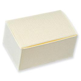 Geschenkschachtel Rechteck creme klein, 10 Stück