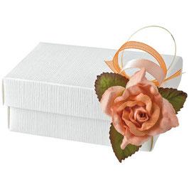 Geschenkschachtel weiß Rechteck mit Deckel klein, 10 Stück