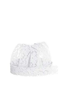 Spitzenband Blumen weiß, 5 Meter