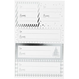 Notiz-Sticker Weihnachten silber