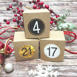 Adventskalender-Set 7 - 6x6x6 cm