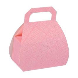 Handtaschen Geschenkschachtel rosa, 10 St. -6,5x4x8 cm