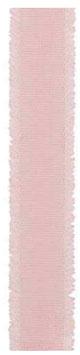 Ripsband rosa mit Fransen - 5 Meter