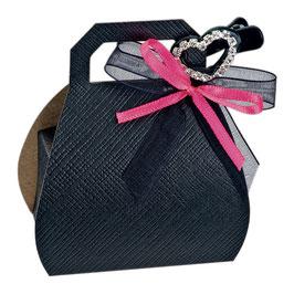 Handtaschen Geschenkschachtel schwarz, 10 St. - 6,5x4x8 cm