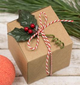Würfel Geschenkschachtel 9x9 Kraftkarton