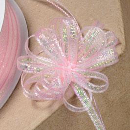 Ziehschleifenband schillernd rosa - 5 Meter