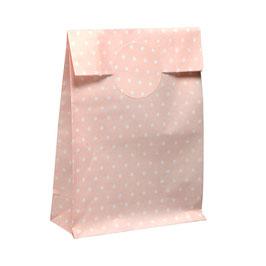 10 Papiertüten mit passendem Sticker rosa
