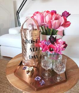 "Wine Bag ""ROSÉ ALL DAY"" roségold"