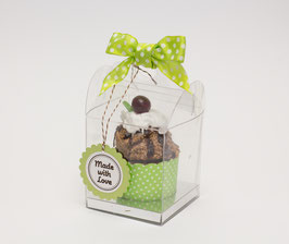 PVC Cupcake Box Quadrat mit Henkel