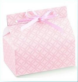 "Geschenkbox ""Chic"" rosa, 5 Stück - 14x9x6 cm"